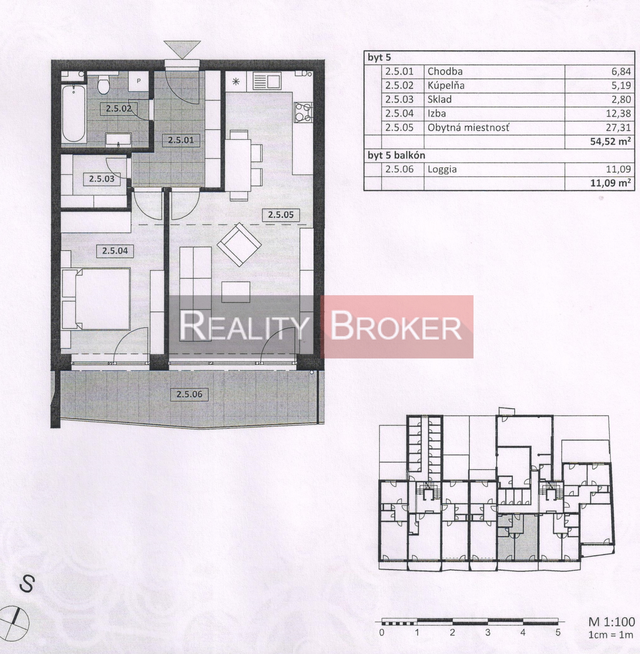 Ponúkame na predaj 2 izb. byt v centre mesta