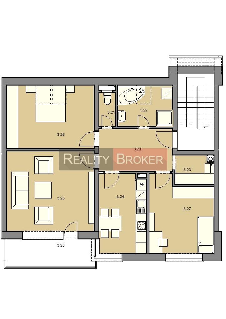 Ponúkame Na Predaj Pekný 3 Izb. Byt – NOVOSTAVBA