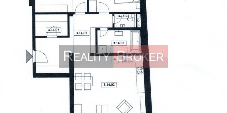 3 izb. byt. č. 14