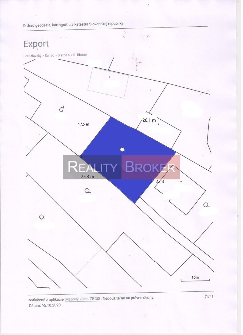 Ponúkame na predaj pekný stavebný pozemok v obci Blatné