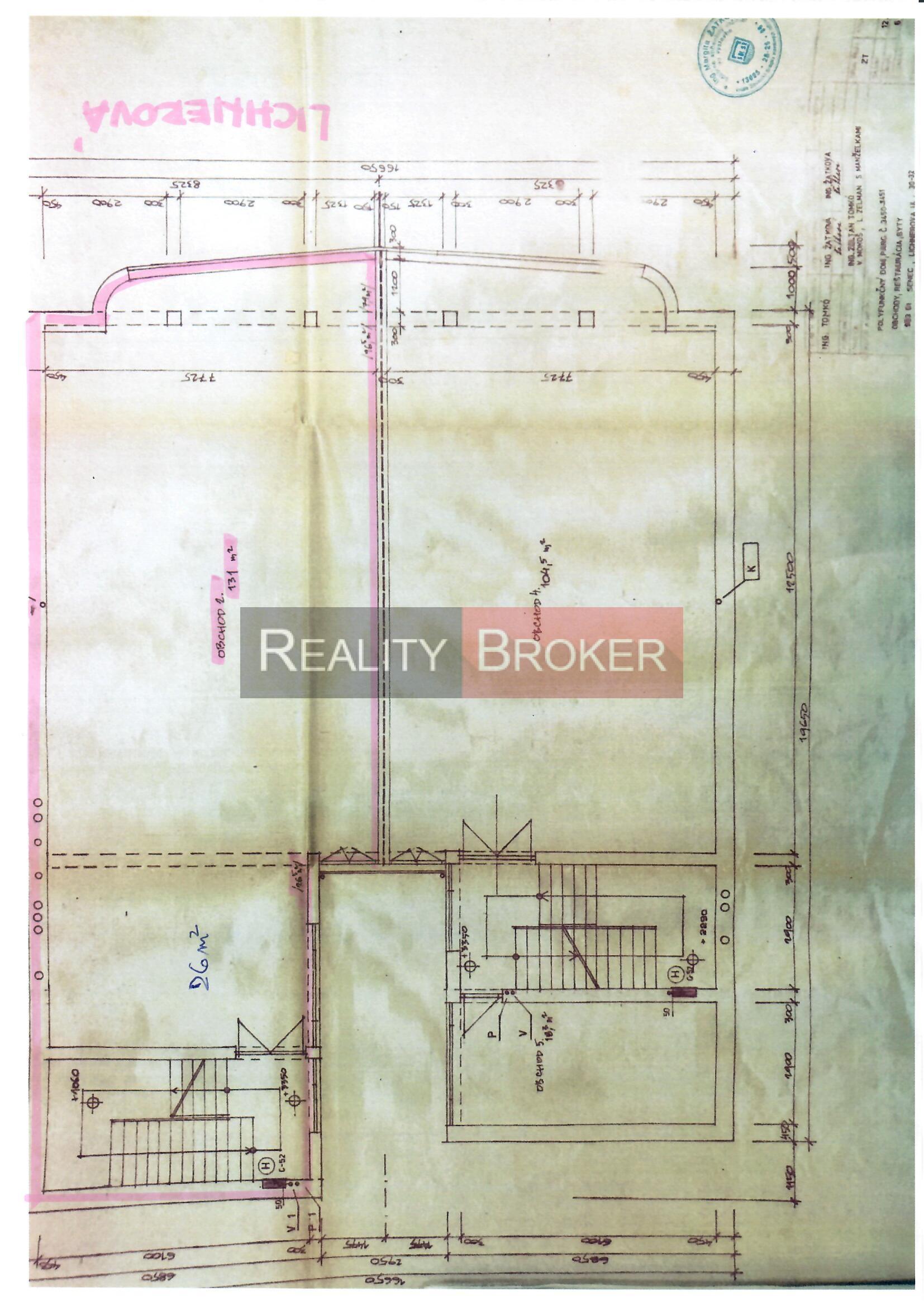 REALITY BROKER ponúka na prenájom komerčné priestory na Lichnerovej ul.
